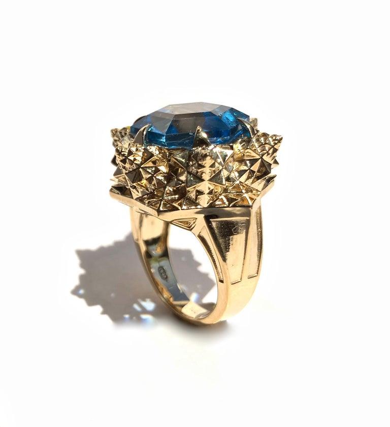 Fractal Gold Topaz Ring For Sale 3