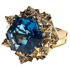 Fractal Gold Topaz Ring