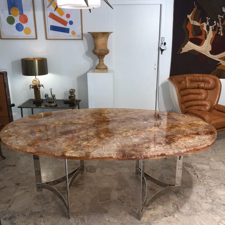 Fractal Resin Dinning Room Table by Gilles Charbin For Sale 4