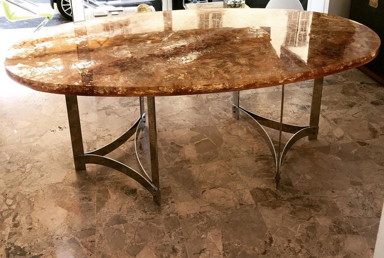 Fractal Resin Dinning Room Table by Gilles Charbin For Sale 5