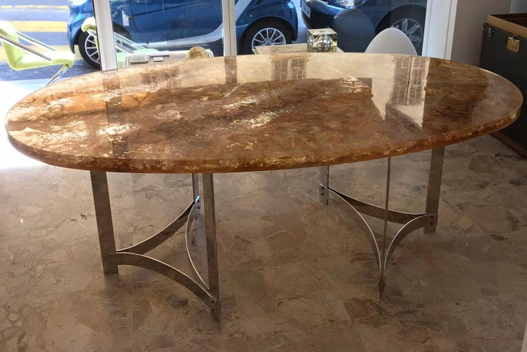 French Fractal Resin Dinning Room Table by Gilles Charbin For Sale