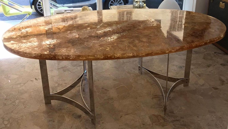 Fractal Resin Dinning Room Table by Gilles Charbin In Good Condition For Sale In Saint-Ouen, FR