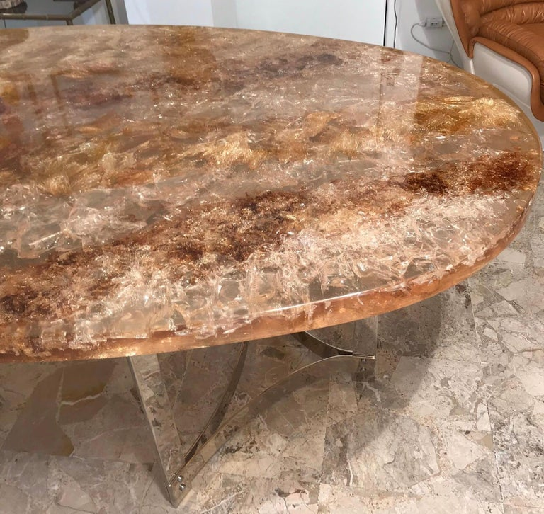 Late 20th Century Fractal Resin Dinning Room Table by Gilles Charbin For Sale