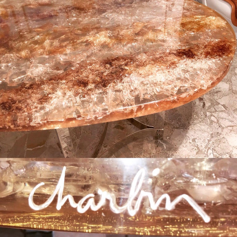 Fractal Resin Dinning Room Table by Gilles Charbin For Sale 1