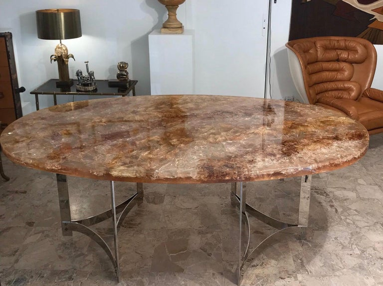 Fractal Resin Dinning Room Table by Gilles Charbin For Sale 3