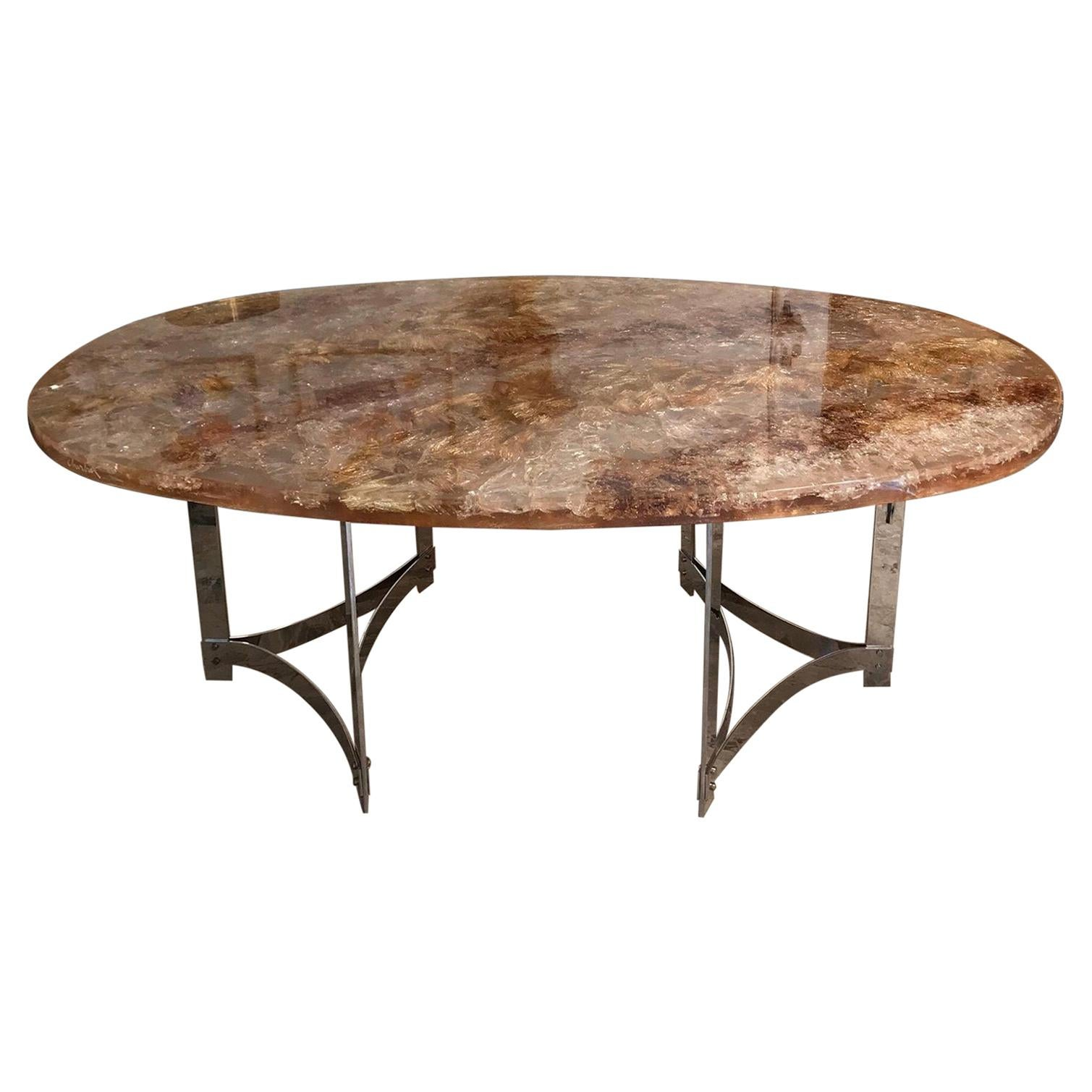 Fractal Resin Dinning Room Table by Gilles Charbin