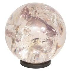 Fractured Resin Sphere, Bronze Base