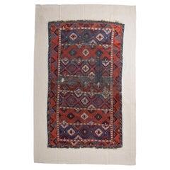 Fragment of Ancient Nomadic Carpet from Kurdestan