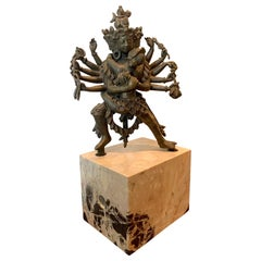 Fragment of Tibetan Cast Bronze Statue of Yamantaka