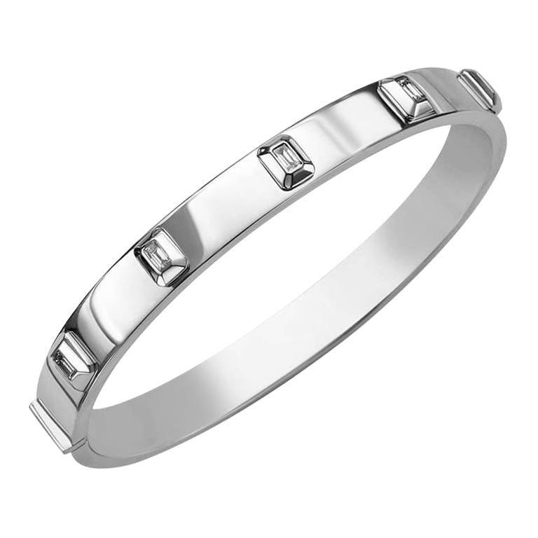 Frame Bracelet 5 Diamonds / White Gold