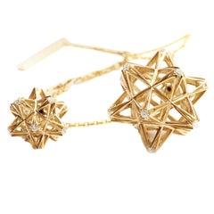 Frame Diamond and 18K Gold Pendant Necklace