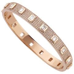 Frame Full Diamonds Bracelet / Rose Gold