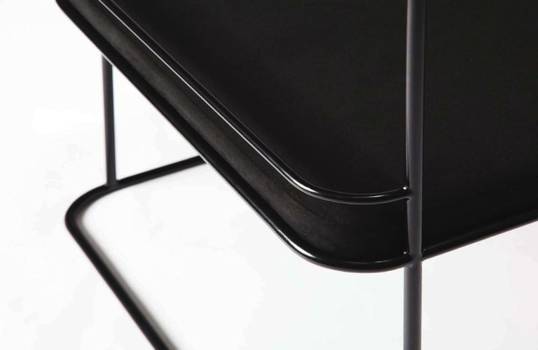 Frame, Minimalist Black Metal Structured Side Chair In New Condition For Sale In Los Angeles, CA