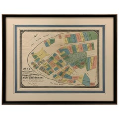 1897 Edition of Dutch West India Co. New Amsterdam, 1642 Map Framed