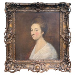 Framed 18th-19th Century Continental Oil Painting of Woman