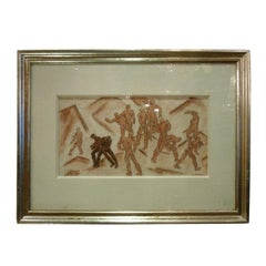 Framed 1930s Drawing