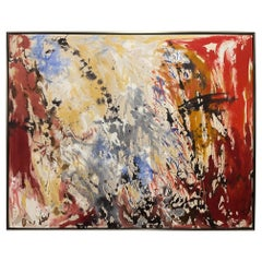 """Framed Abstract Acrylic on Canvas """"Objective Energy"""" by Jacqueline Carcagno"""