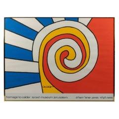 Framed Alexander Calder Israel Museum Jerusalem Exhibition Poster