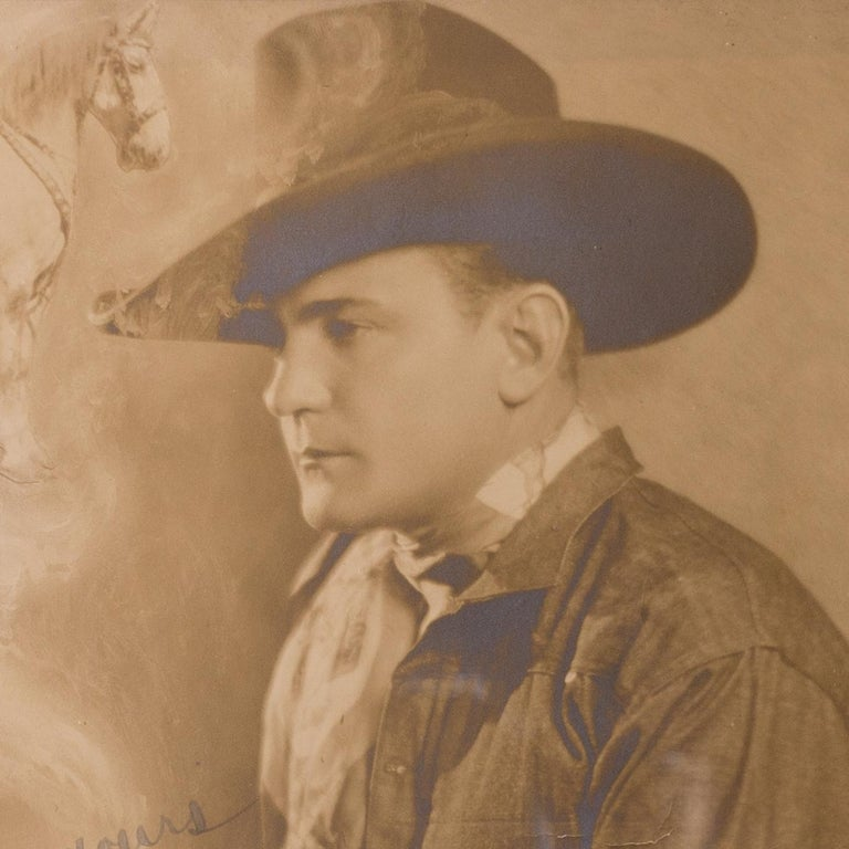 American Framed and Signed Photograph of Buck Jones For Sale