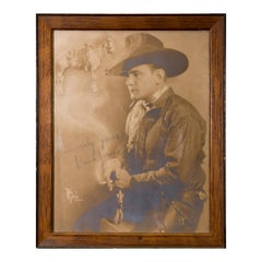 Framed and Signed Photograph of Buck Jones