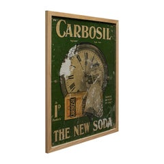 Framed Antique Advertisement, English, Advert, Carbosil Soap, Victorian, 1900