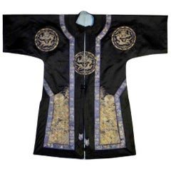Framed Antique Chinese Imperal Silk Robe