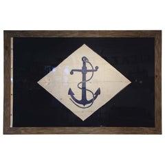 Framed Antique Naval Flag, circa 1900
