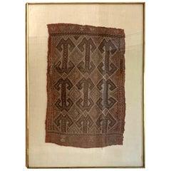 Framed Antique Turkish Tribal Textile Fragment