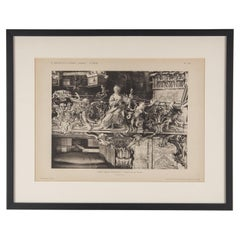 Framed Architectural Print, Italy, Early 1900s