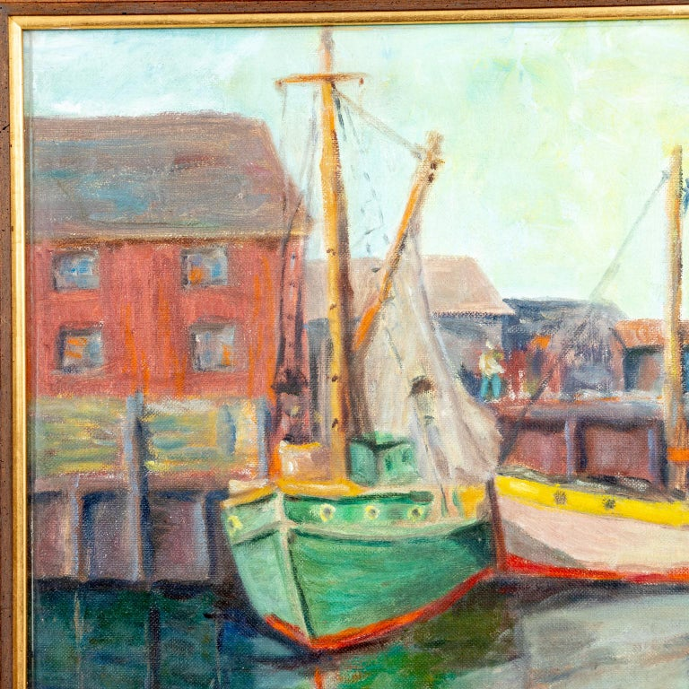 Painted Framed Artwork by Emile Gruppe For Sale