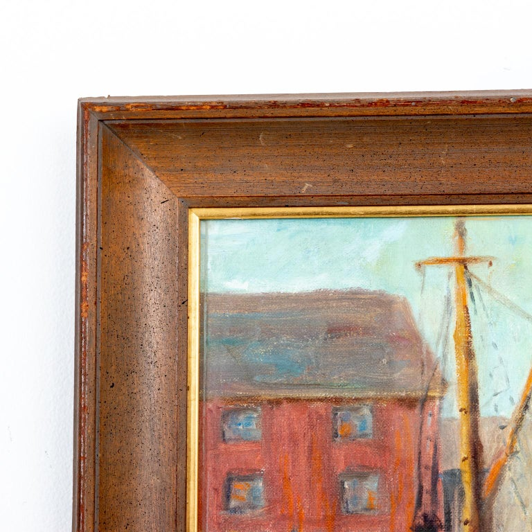 Early 20th Century Framed Artwork by Emile Gruppe For Sale