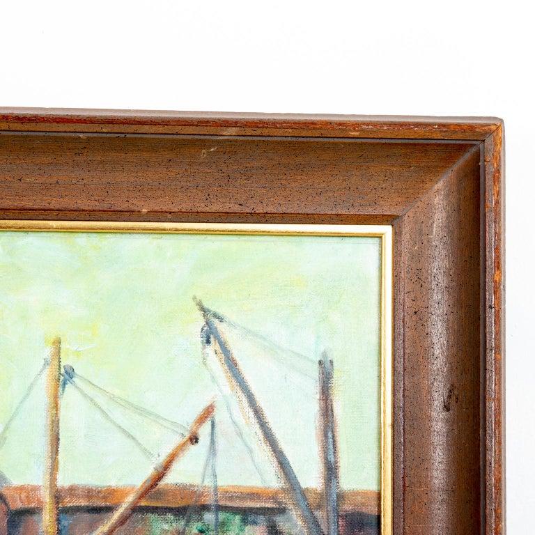 Wood Framed Artwork by Emile Gruppe For Sale