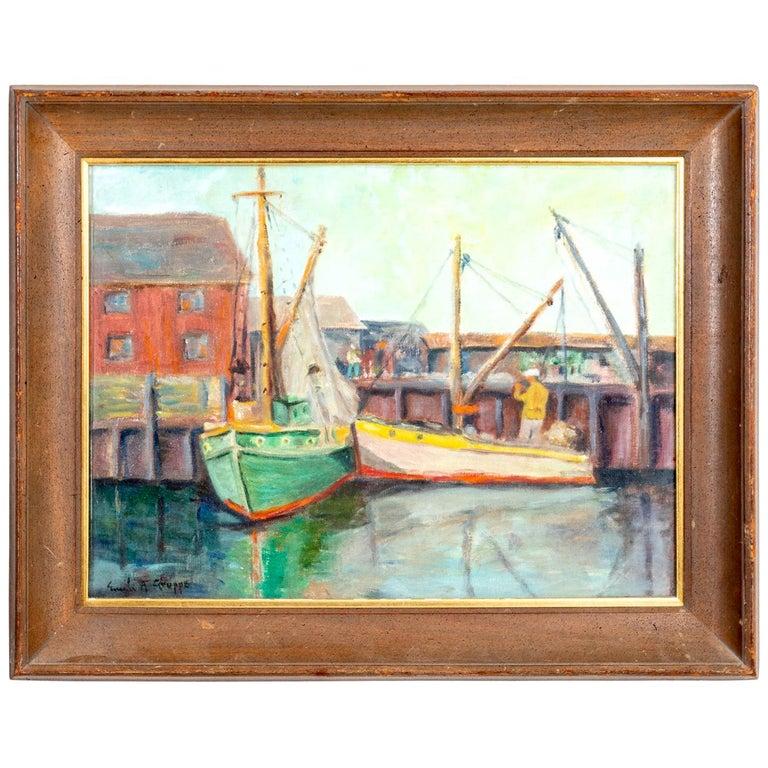 Framed Artwork by Emile Gruppe For Sale