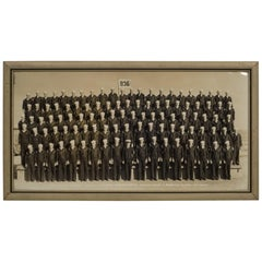 Framed Black and White WWll Naval Battalion Photo, circa 1940