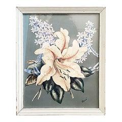 Framed Botanical Print of a Stargazer Lily by Rene White