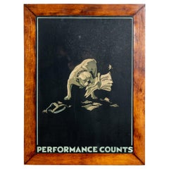 "Framed Bulldog Print ""Performance Counts"""