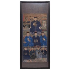 Framed Chinese Ancestor Portrait, circa 1900