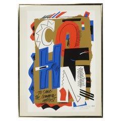 "Framed ""Cohen"" Serigraph by Sam Maitin"