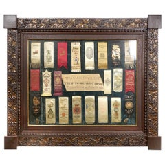 Framed Collection of Knights Templar 1884 Conclave Ribbons
