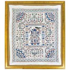 Framed Decorative Ethnic Figurative Tapestry