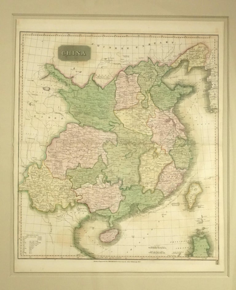 Framed Early 19th Century Drawn and Engraved Map of China For Sale 5