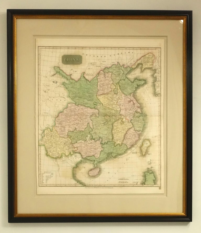Framed Early 19th Century Drawn and Engraved Map of China For Sale 3