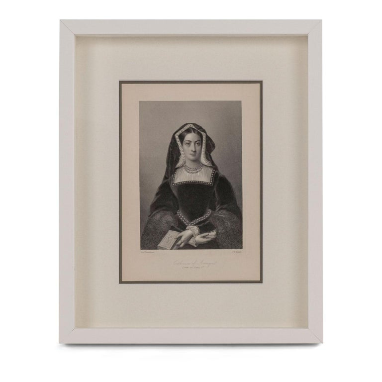 Framed Engravings of English Queens 4