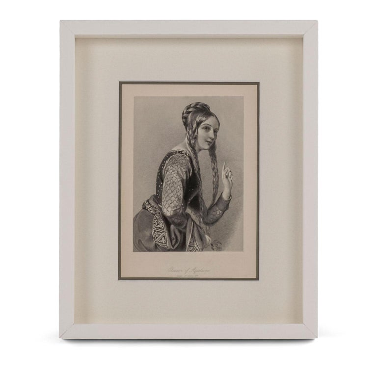 Framed engravings of English queens: twelve prints from steel engraved plates taken from