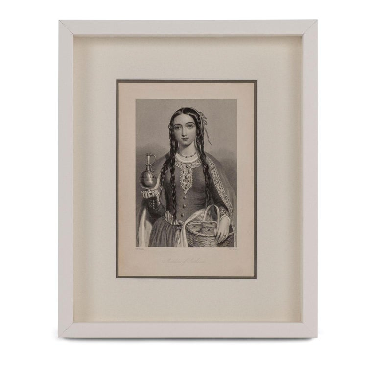 Painted Framed Engravings of English Queens