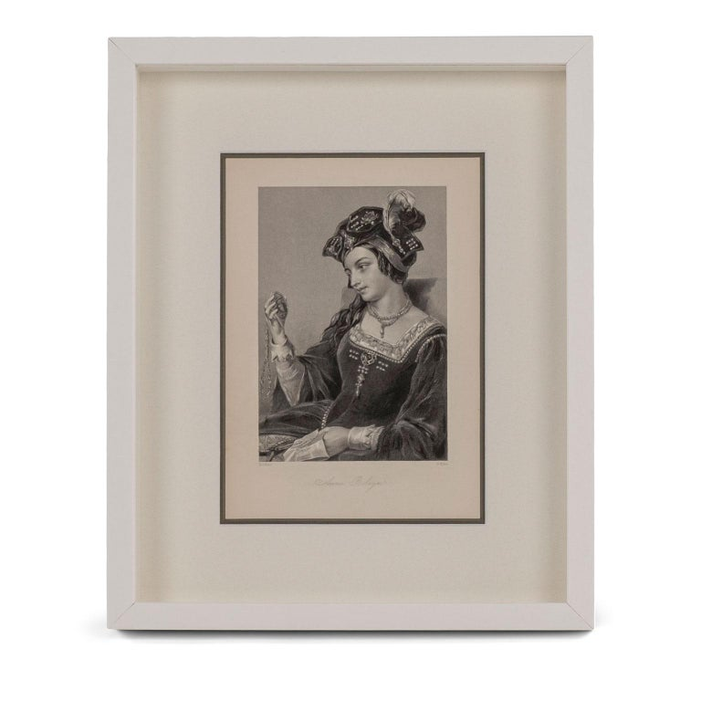 Framed Engravings of English Queens In Good Condition In Houston, TX
