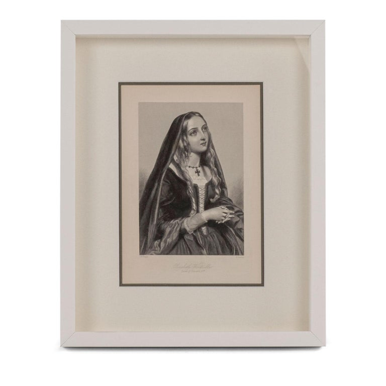 19th Century Framed Engravings of English Queens