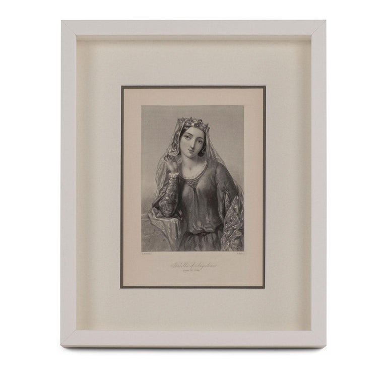 Wood Framed Engravings of English Queens