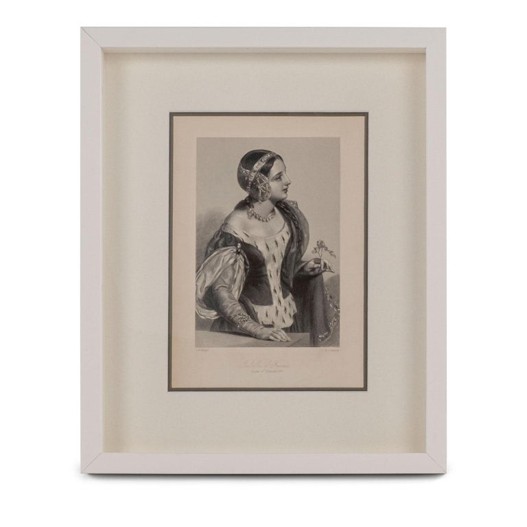 Glass Framed Engravings of English Queens