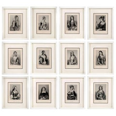 Framed Engravings of English Queens